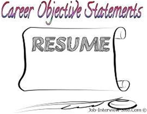 A good job objective for your resume